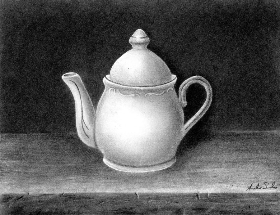 Drawn still life charcoal pencil This life is by Still