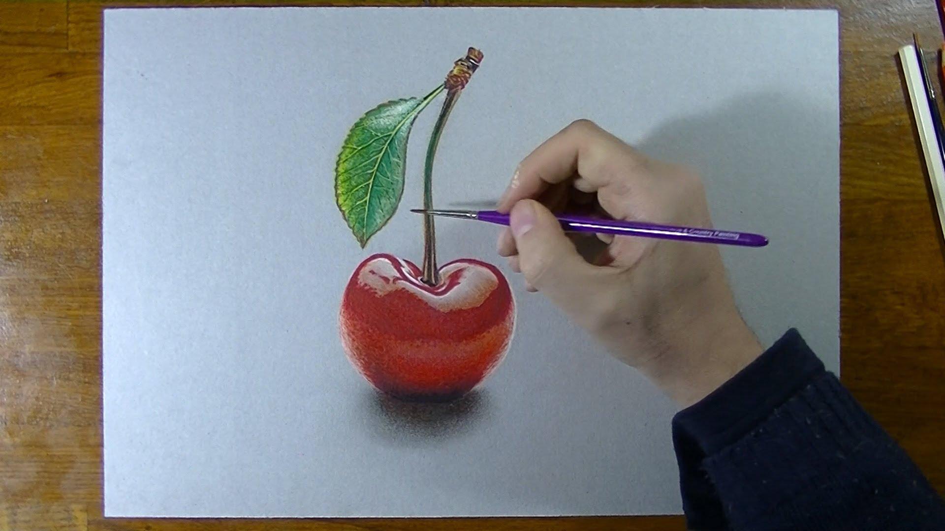 Drawn still life cherry Draw a  Cherry How