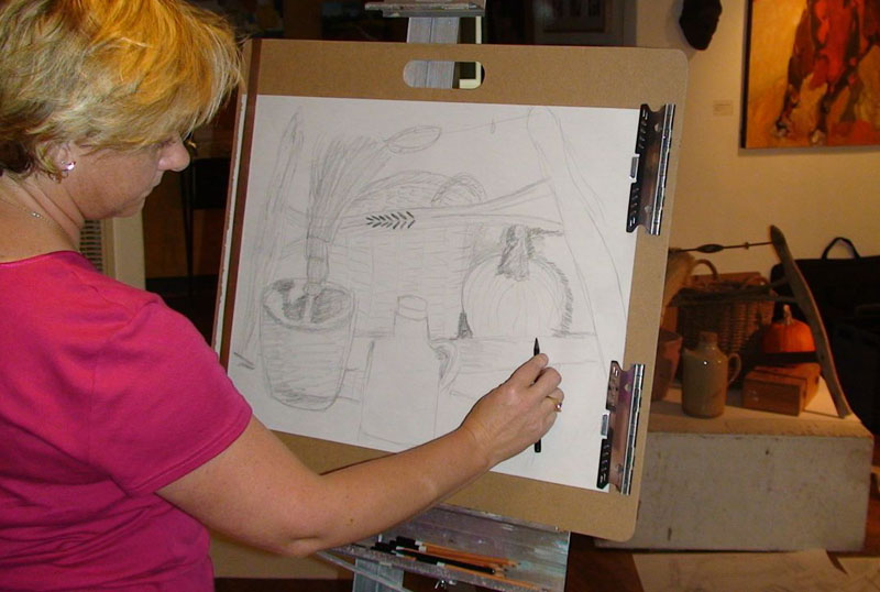 Drawn still life classic Pencil Your easel With at