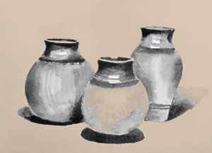 Drawn still life classic Kids: Lessons Drawing  for