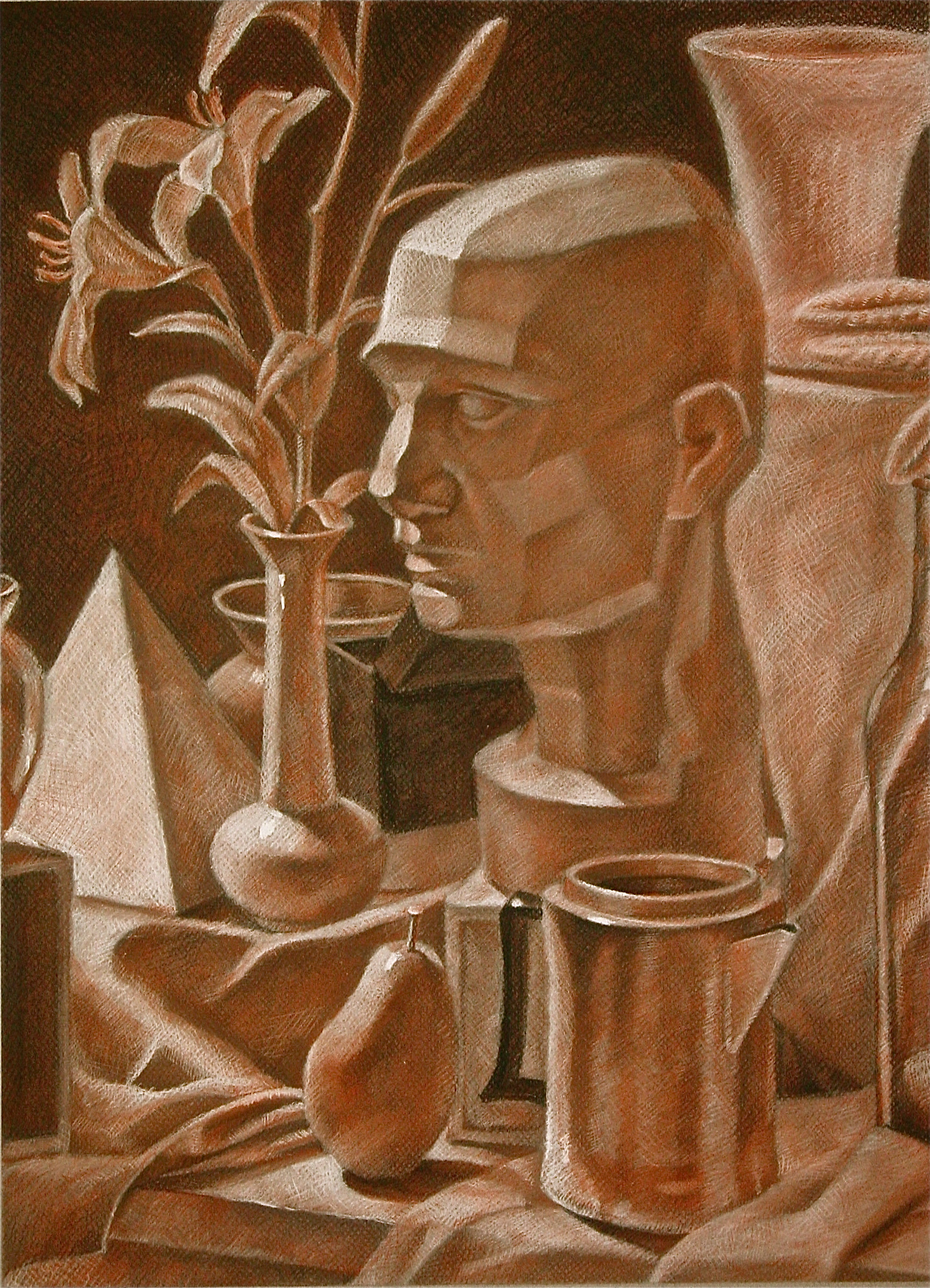 Drawn still life conte crayon My Find Pinterest Pin and