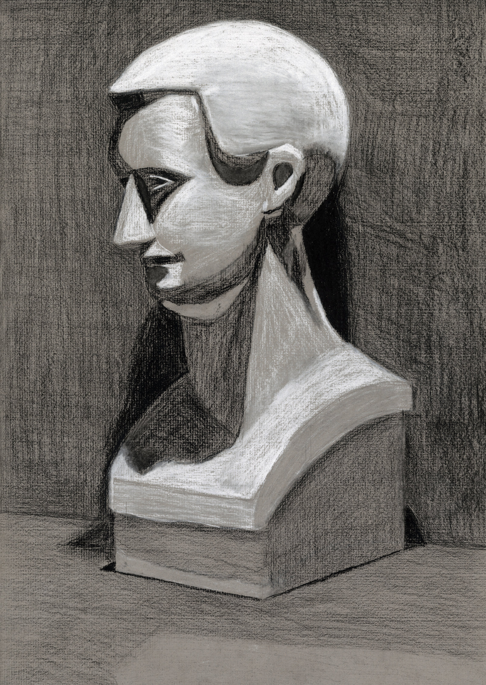 Drawn still life conte crayon By  DeviantArt Head Still