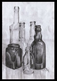 Drawn still life famous artist And DRAW THESE Bottles Oil