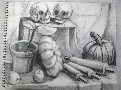 Drawn still life girly Drawing Drawing Teaching Pinterest II