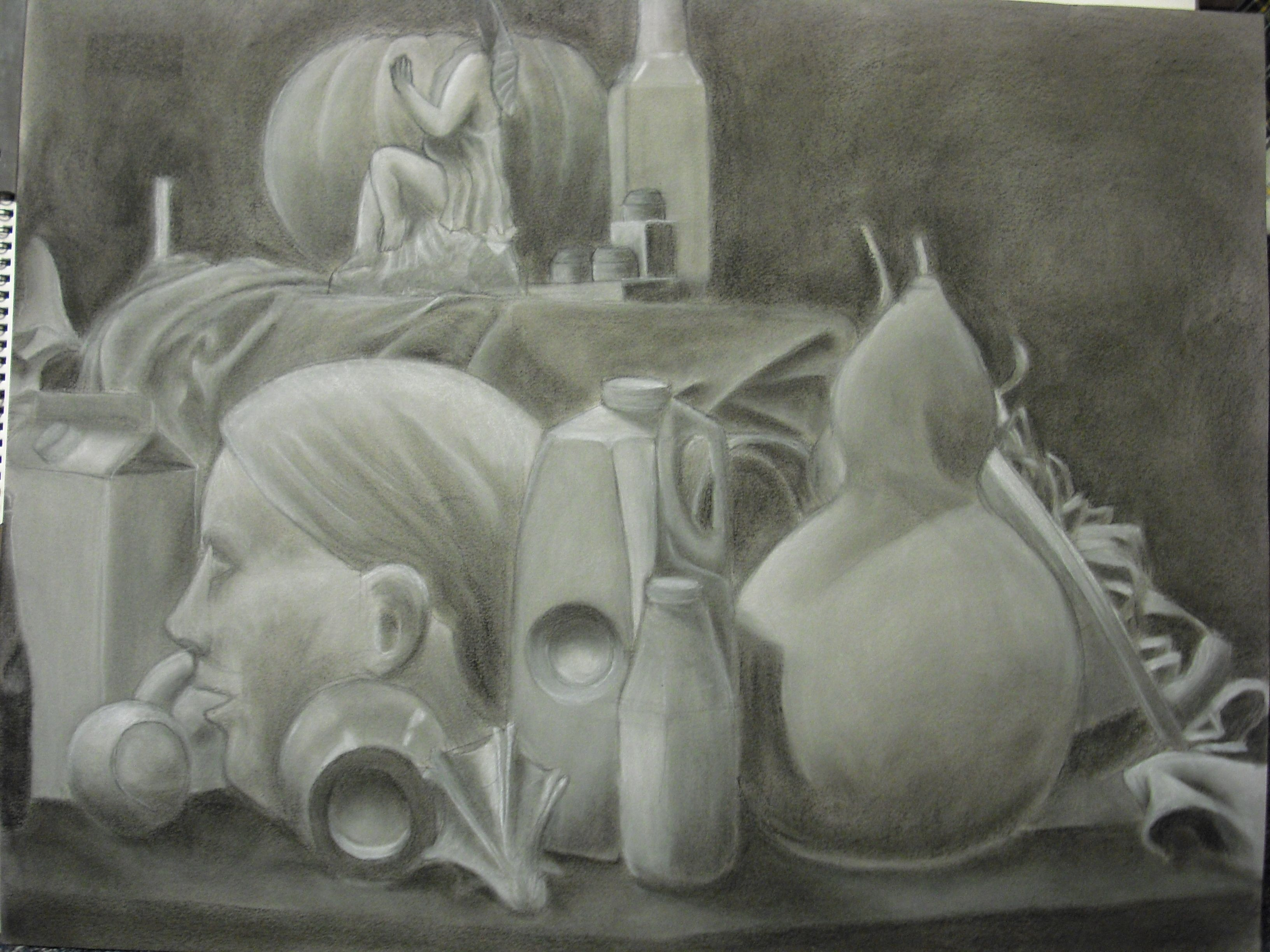 Drawn still life graphite Of drawing reeves Quakenbush we