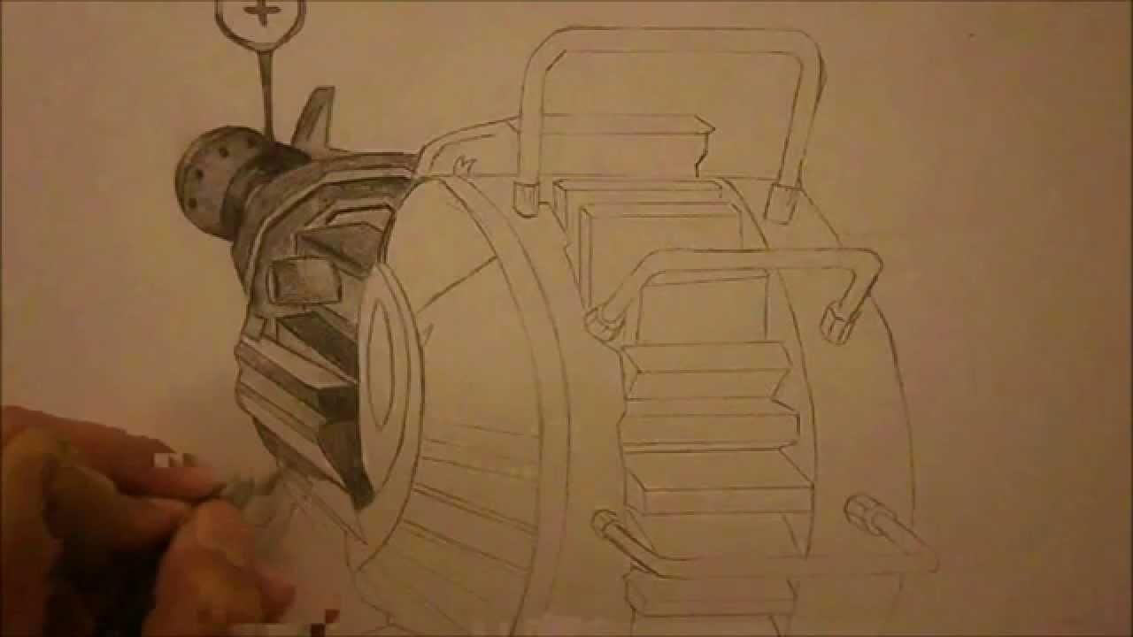 Drawn still life gun Gun Ops 2 Hand Ray