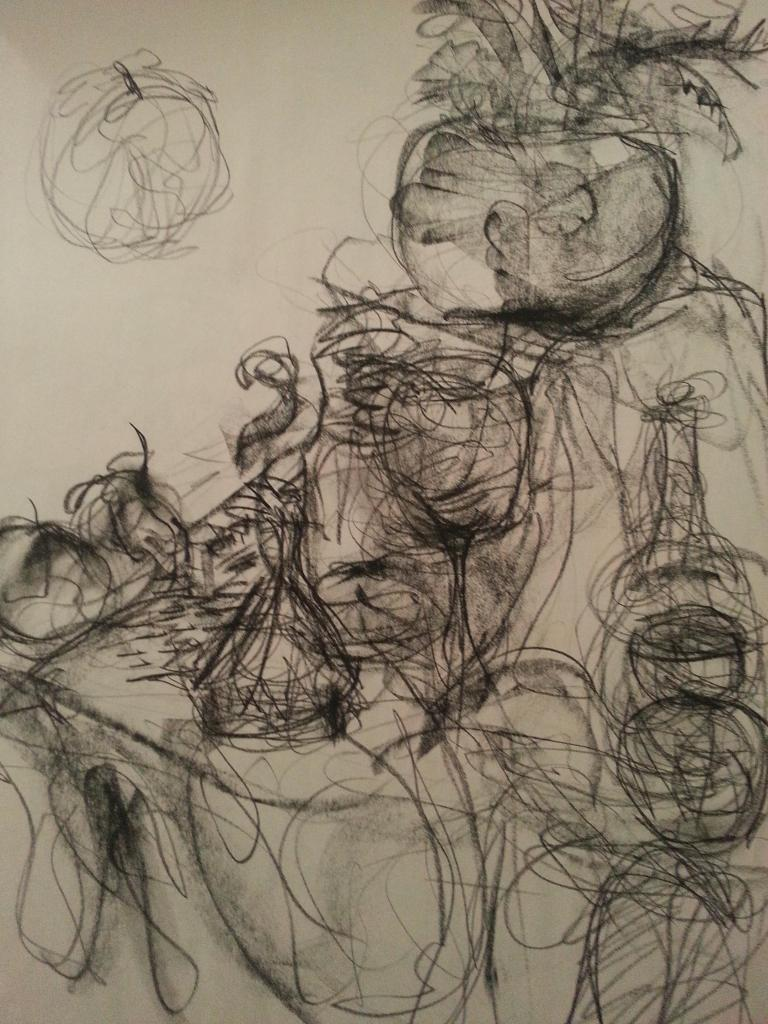 Drawn still life human Gesture for lot life doing