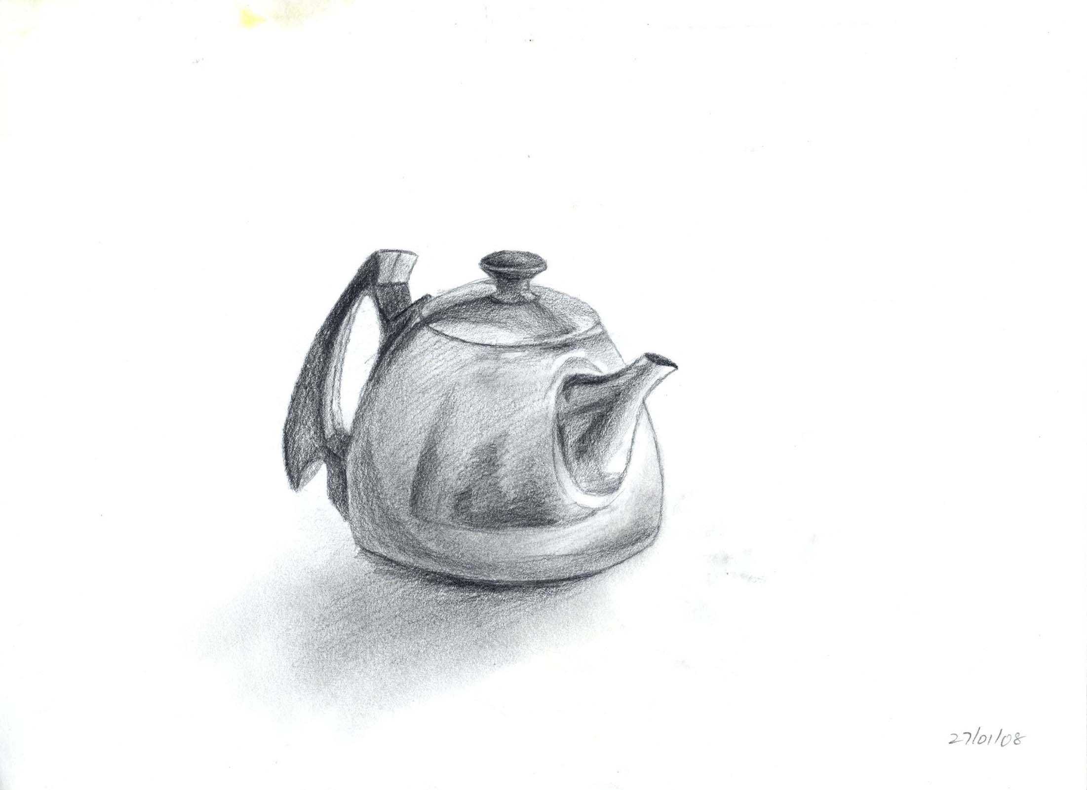 Drawn still life kettle Title: Juhpalang space Kettle My