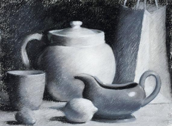 Drawn still life kettle Drawing Life Original Still 14