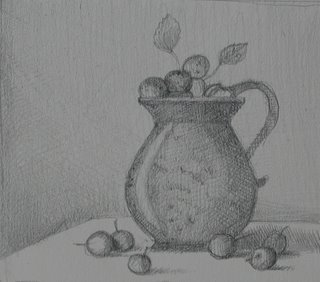 Drawn still life kettle A sketch Hanneke and she