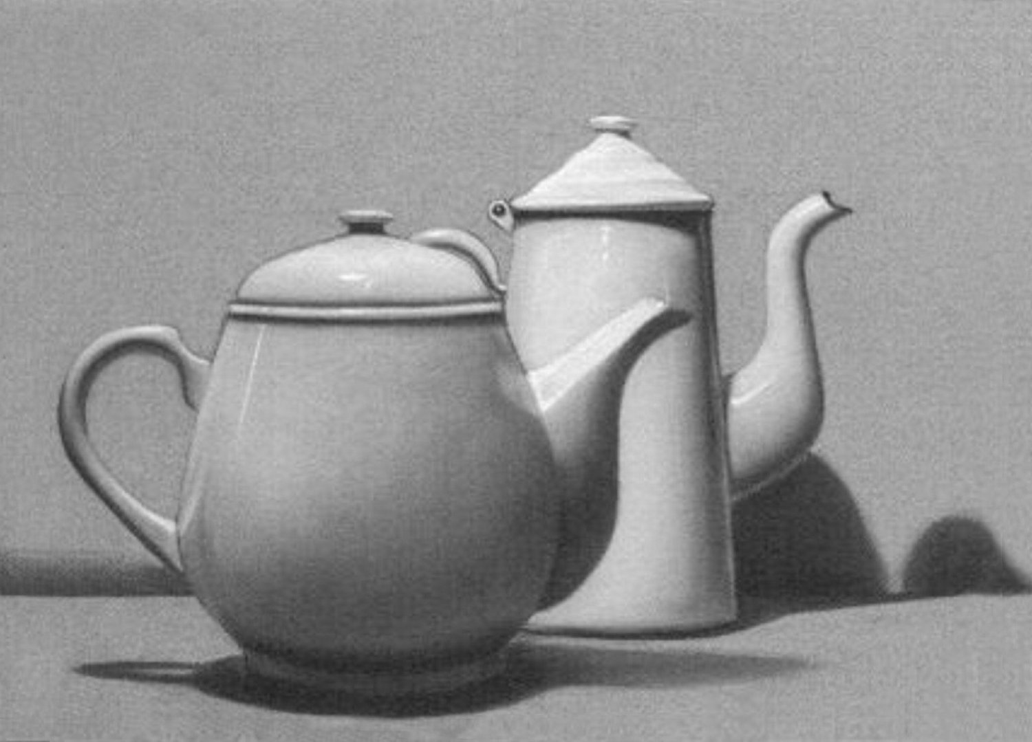 Drawn still life kettle On Life Hand  Hand