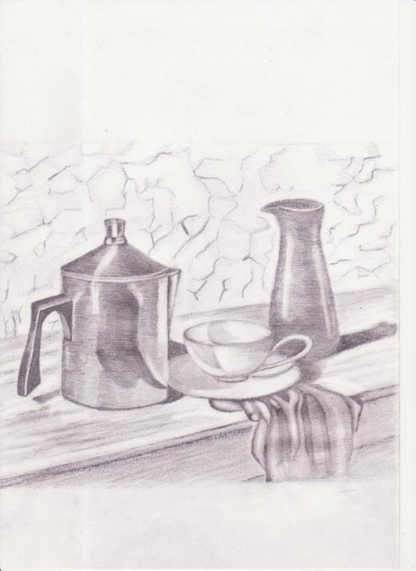 Drawn still life kettle 101: WetCanvas 10 Class Basics