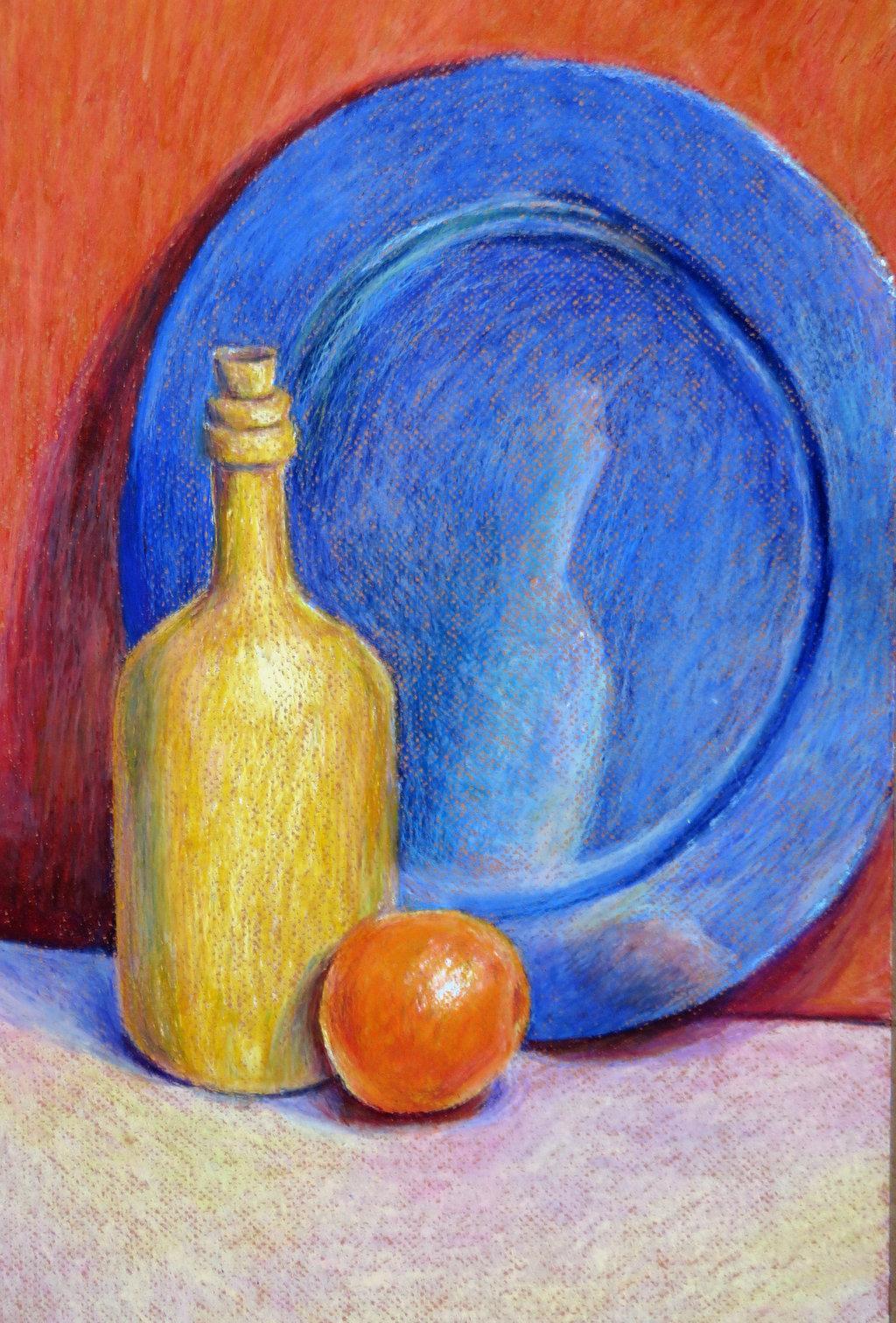Drawn still life oil pastel Oil on by fourdasherette fourdasherette