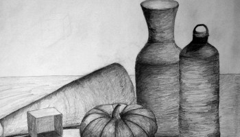 Drawn still life organic Arts 'September' Drawing: Studio Willpower