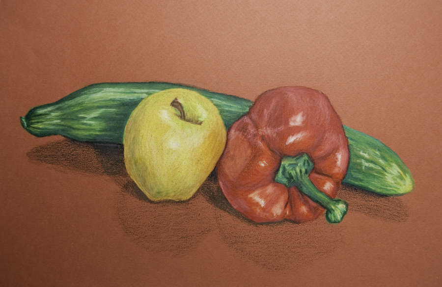 Drawn still life organic By EllieFrost Life DeviantArt on