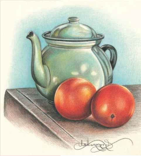 Drawn still life pencil color Remember Still Drawings Arts To