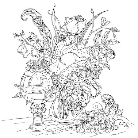 Drawn still life person Artistic Drawing Page rangoli a