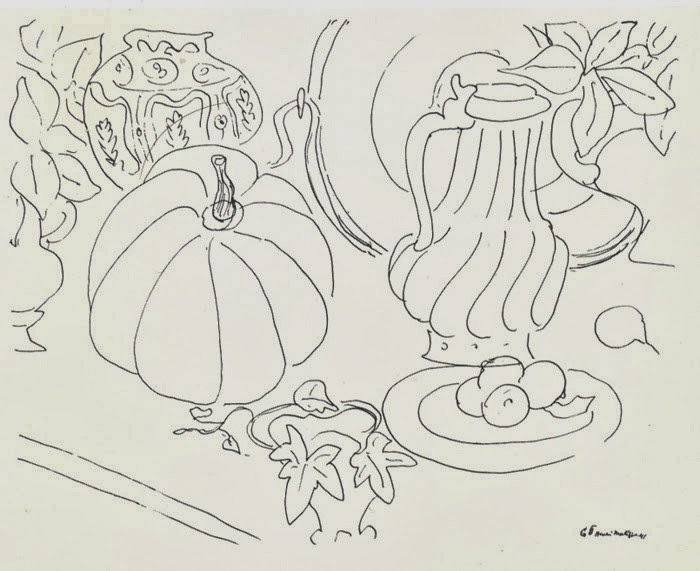 Drawn still life picasso Matisse from Drawing Contour Berlin