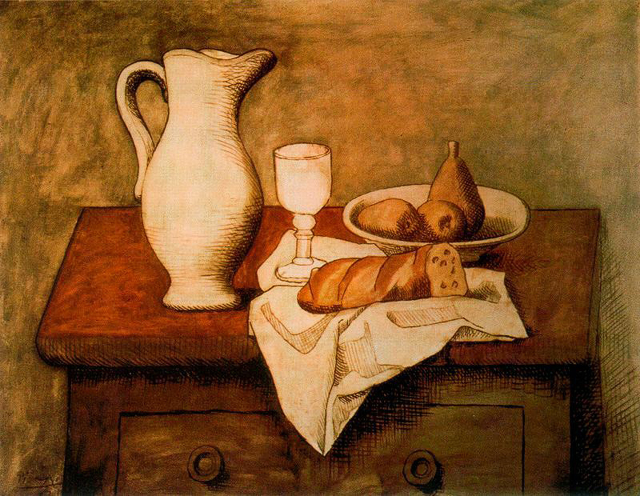 Drawn still life picasso Life reproduction painting life Still