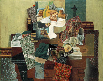 Drawn still life picasso (1914 Table Fruit on Picasso