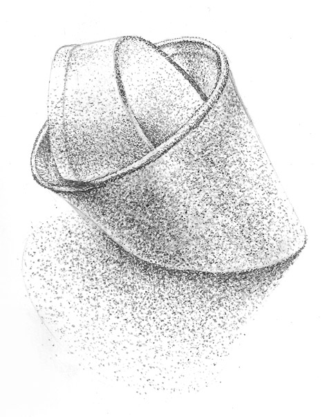 Drawn still life pointillism (Value) life Mrs cup –