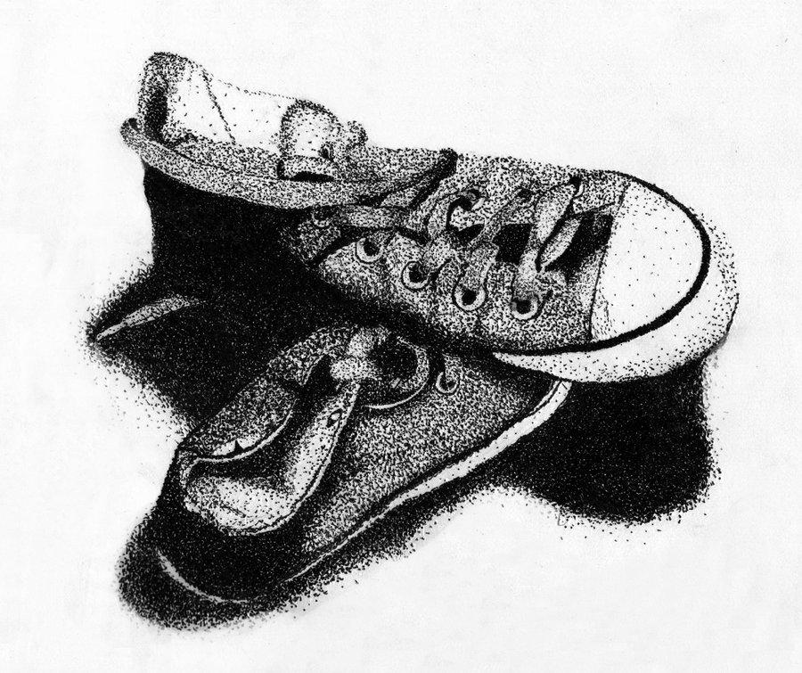 Drawn still life pointillism On spilled DeviantArt stars Pointillism