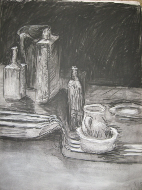 Drawn still life pottery  by Flower Textured Original