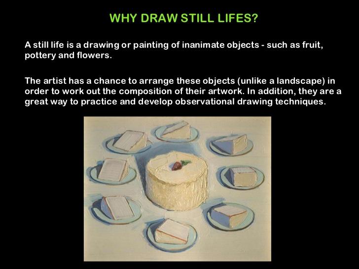Drawn still life pottery WHY life Still  drawing