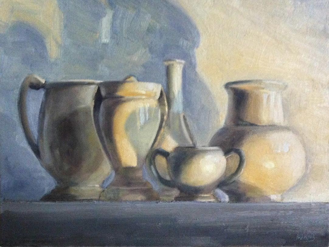 Drawn still life pottery 2014 Still 19th Katz Workshop: