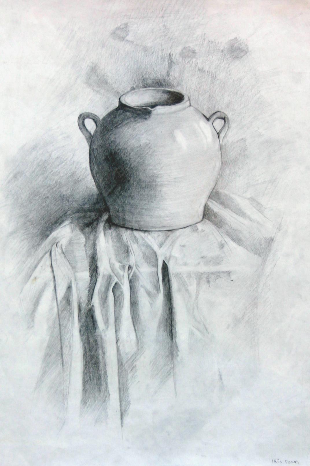 Drawn still life pottery « Pottery – Age Still