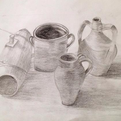 Drawn still life pottery LessonsGoWhere Courses for Singapore Teens