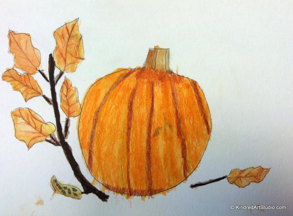 Drawn still life pumpkin Drawing Art Life an Kindred