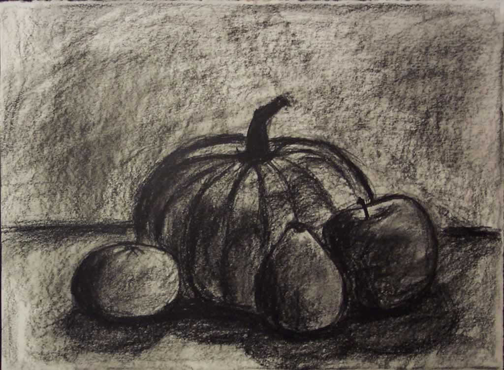 Drawn still life pumpkin Software Jose 3+ something lot