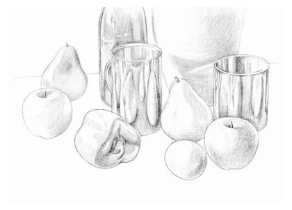 Drawn still life shading Shading 1 5: Pencil Still