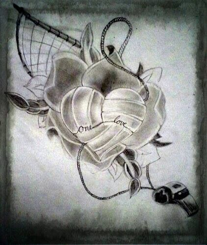 Drawn still life vintage Best volleyball drawing 25+ Cool