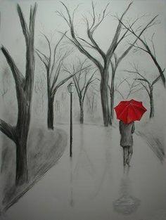 Drawn still life umbrella Dance Art you Day all