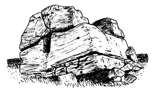 Drawn stone Hitching 2013: Chris hand to