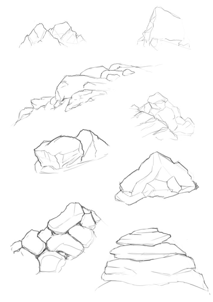 Drawn stone cliff face Cliffs Name: rock_cliff_mountain rock_cliff_mountain