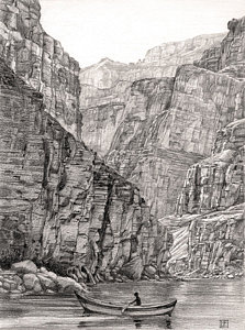 Drawn stone cliff face Face Drawings Drawing by America