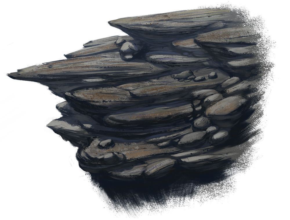 Drawn stone cliff face Study Study on 0021 Sketch
