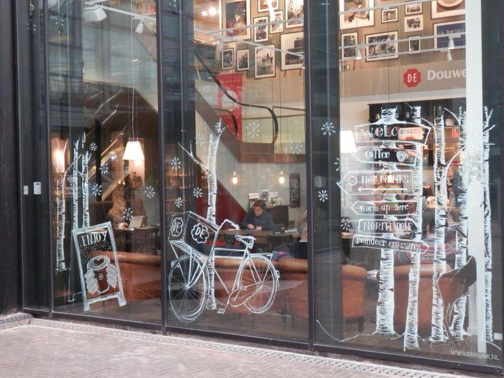 Drawn store shop window Fantastic they Chalk Drawings Wonder
