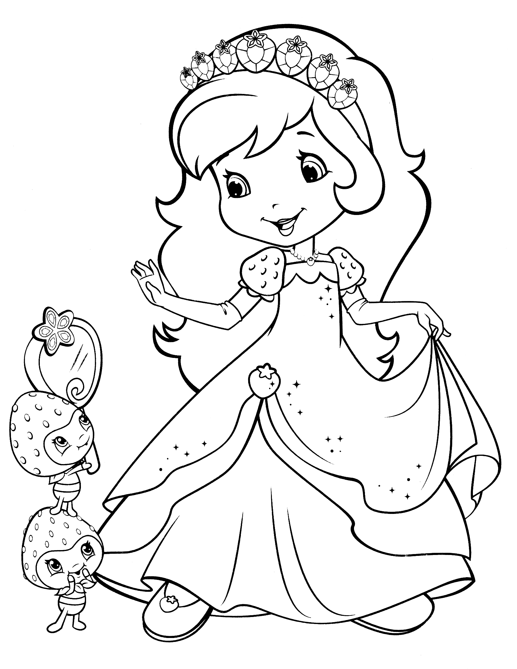Drawn strawberry cartoon Fresitas page Pinterest strawberry coloring