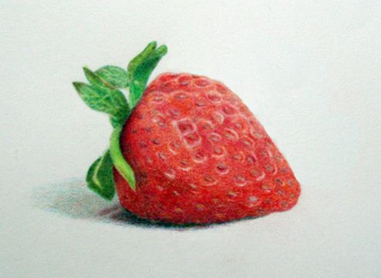 Drawn strawberry color pencil Pinterest  sketch Plants strawberry