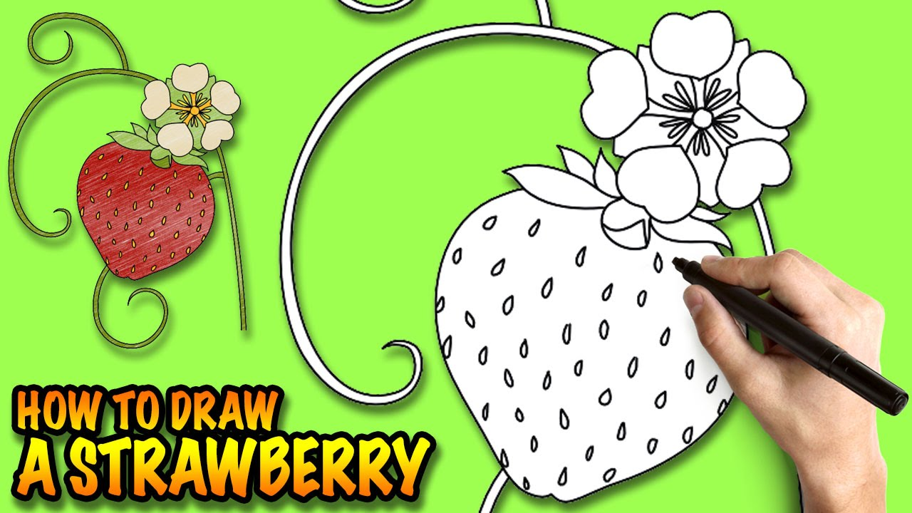 Drawn strawberry cool easy fun Draw step  by YouTube