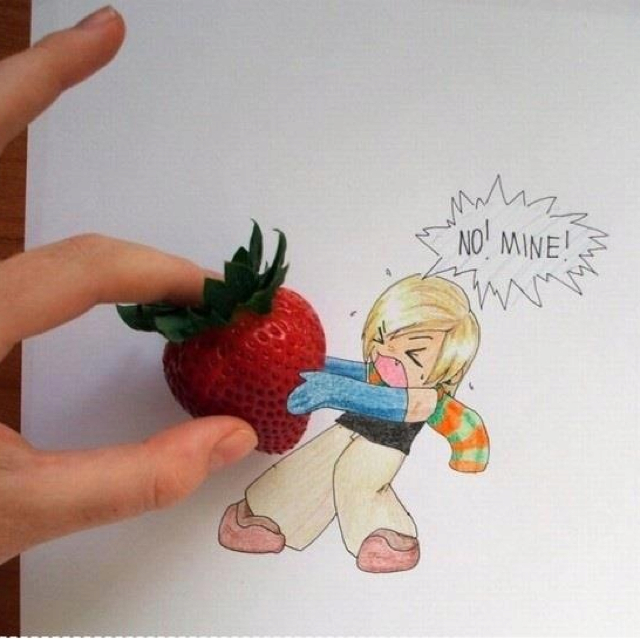 Drawn strawberry cool easy fun And Random drawing Drawings Stuff