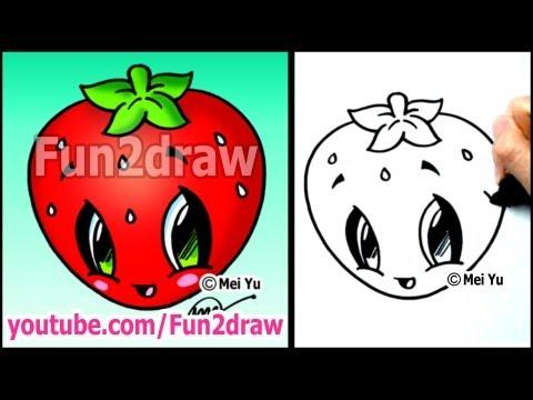 Drawn strawberry cute Drawing Strawberry Art Lessons Draw