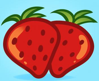 Drawn strawberry cute Food com Kids How How