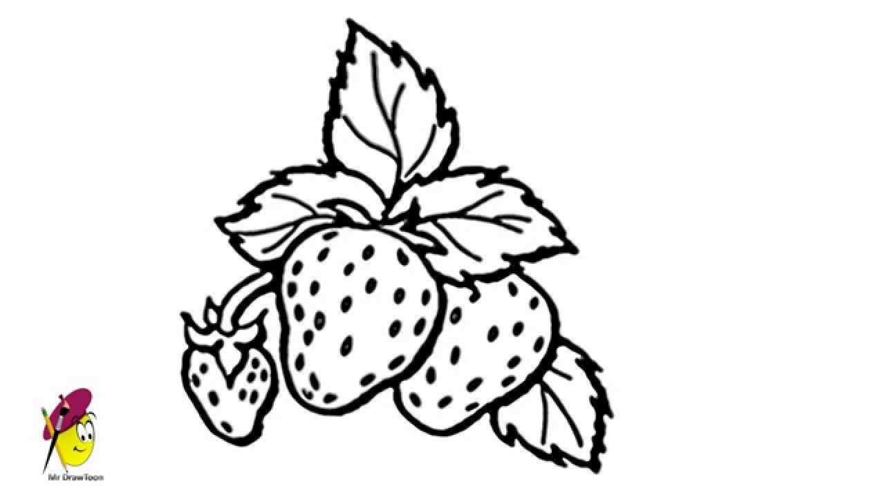 Drawn strawberry strawberry fruit How Drawing and Strawberry Easy
