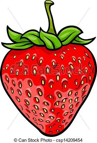 Drawn strawberry strawberry fruit Clipart Cartoon Vector illustration fruit