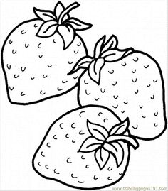 Drawn strawberry strawberry fruit Chocolate Pause coloring > free